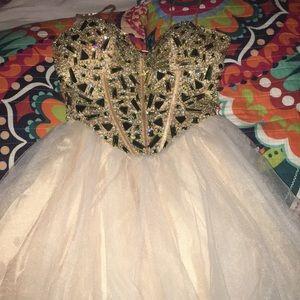 beautiful crystal homecoming dress!!
